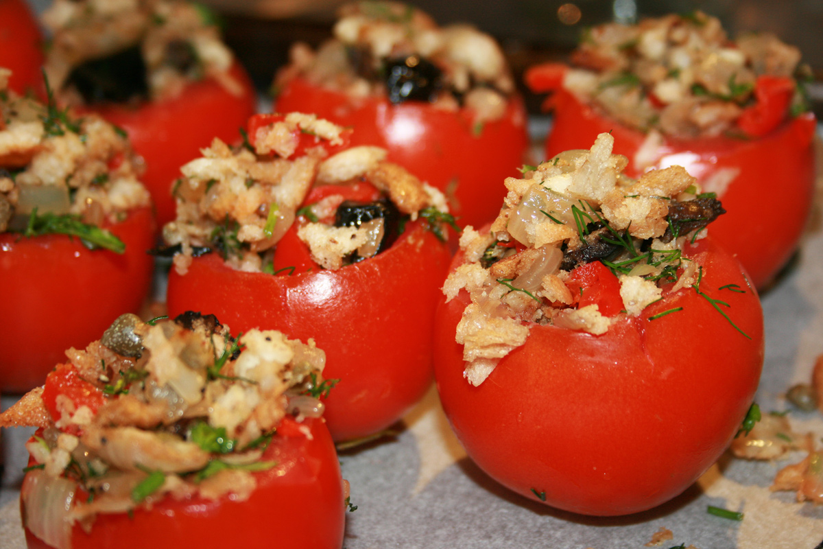 RECIPE ALERT: Tomatoes stuffed w/ Bulgur Wheat and Summer Veggies